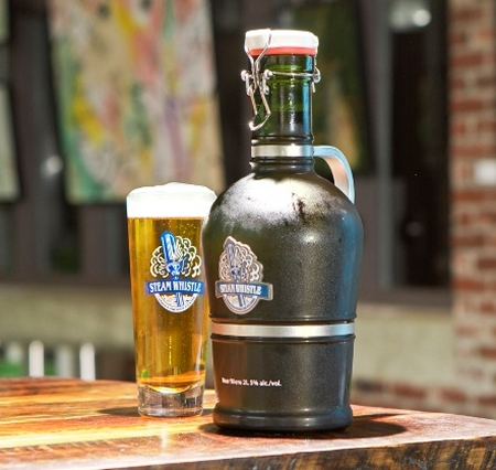 steam whistle growler