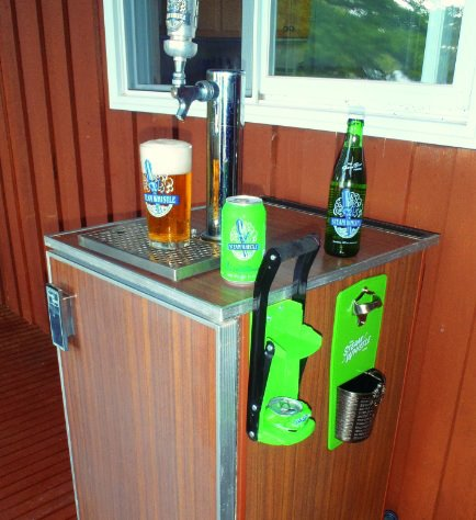 draught fridge with steam whistle