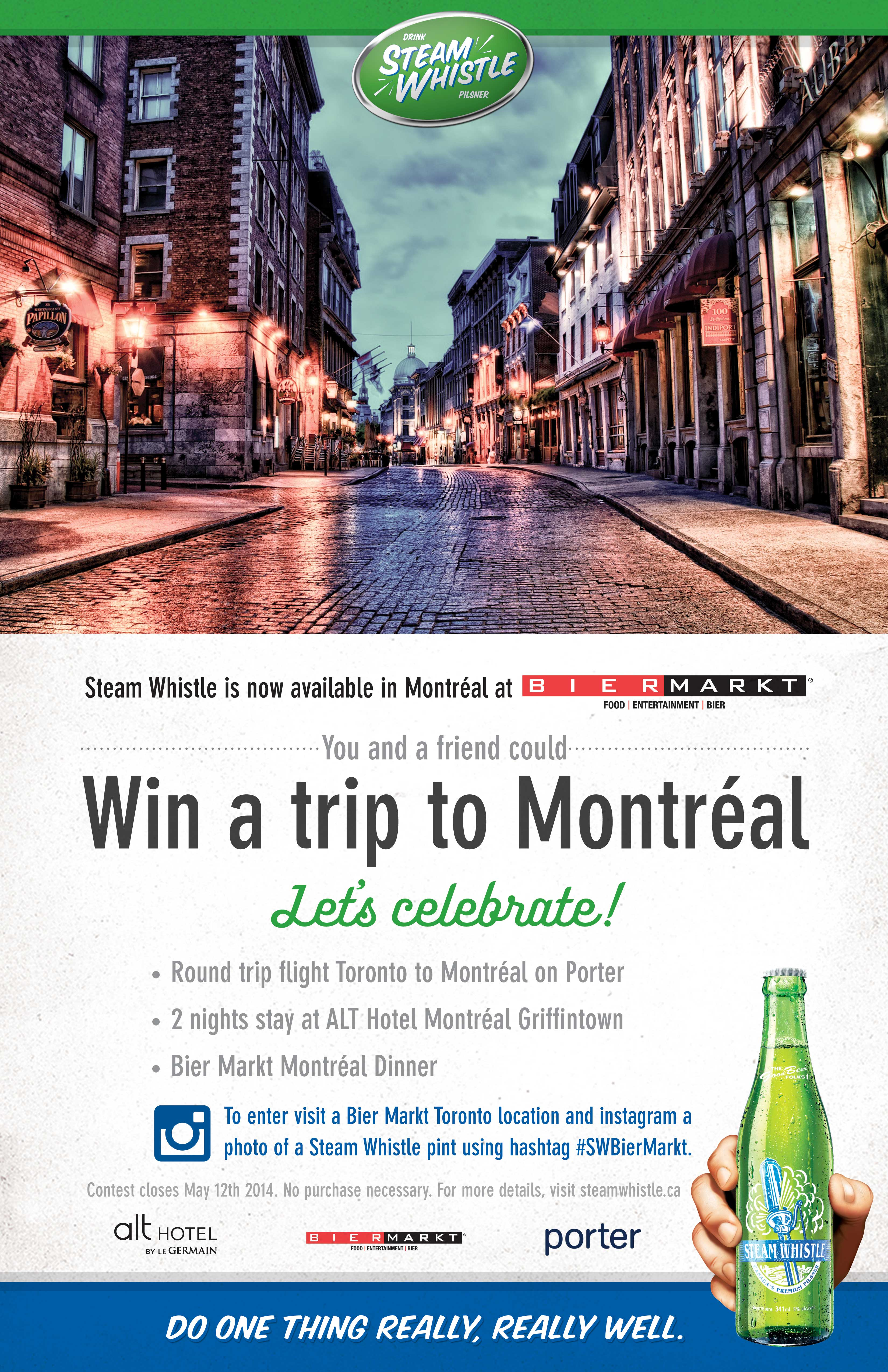 Instagram a Steam Whistle pint at Bier Markt and win a