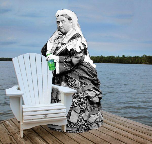 queen victoria with beer