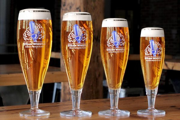 steam whistle glassware
