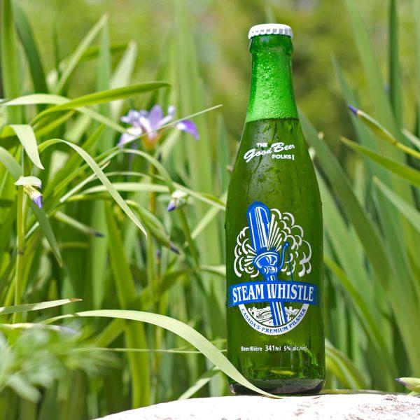 steam whistle green bottle