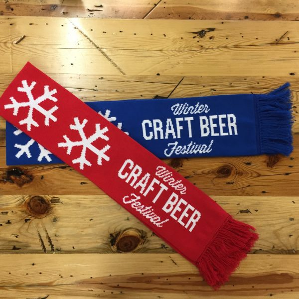 Winter craft beer festival scarfs