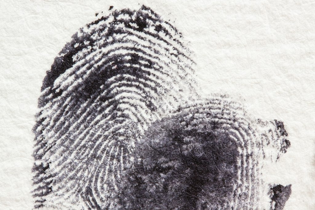 old style black fingerprint