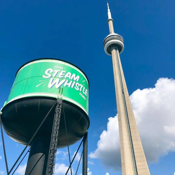 steam whistle water tower cn tower