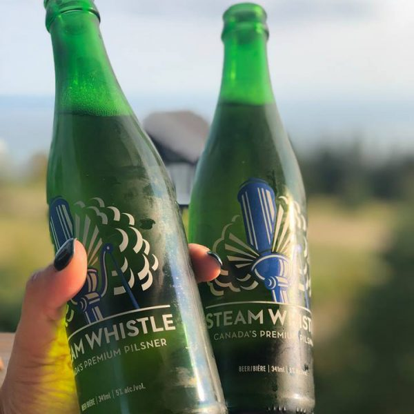 steam whistle glass bottles