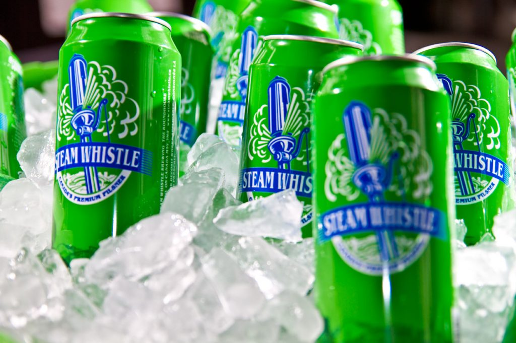 steam whistle tall cans