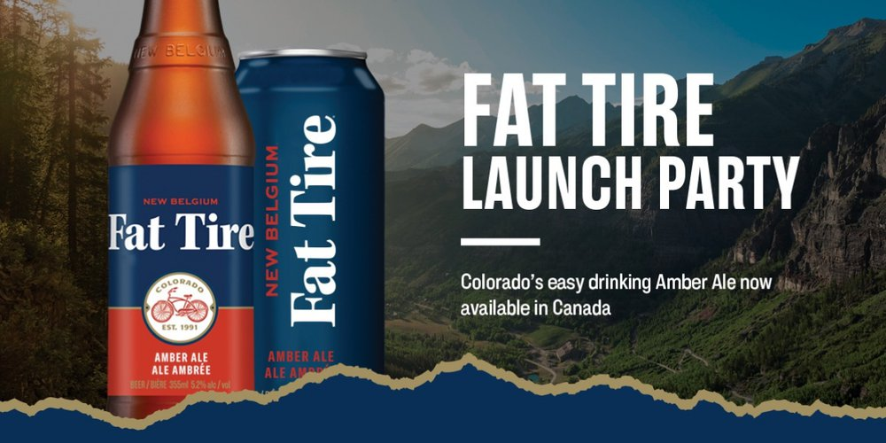 fat tire launch party poster