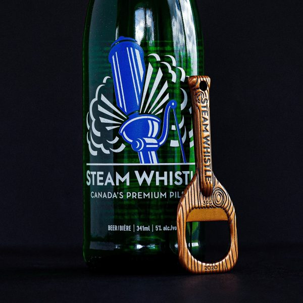steam whistle 20th anniversary bottle opener