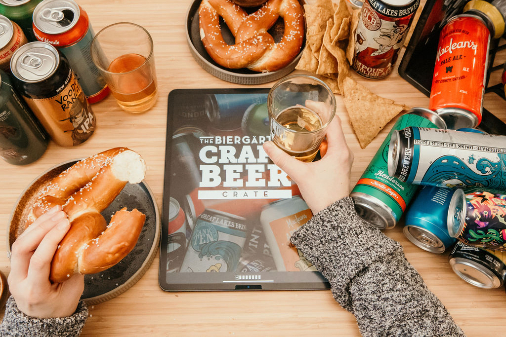 One of the Biergarten specialties is their fresh-baked, Bavarian-style Pretzel, included to pair with the Craft Beer Crate offerings