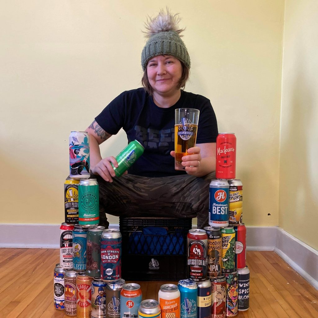 Tiffany Hayes is a beer connoisseur and founder of The Travelling Pint beer blog. She is pictured with Steam Whistle's new Craft Beer Crate. Tiffany curated the beer selection for the inaugural offering.