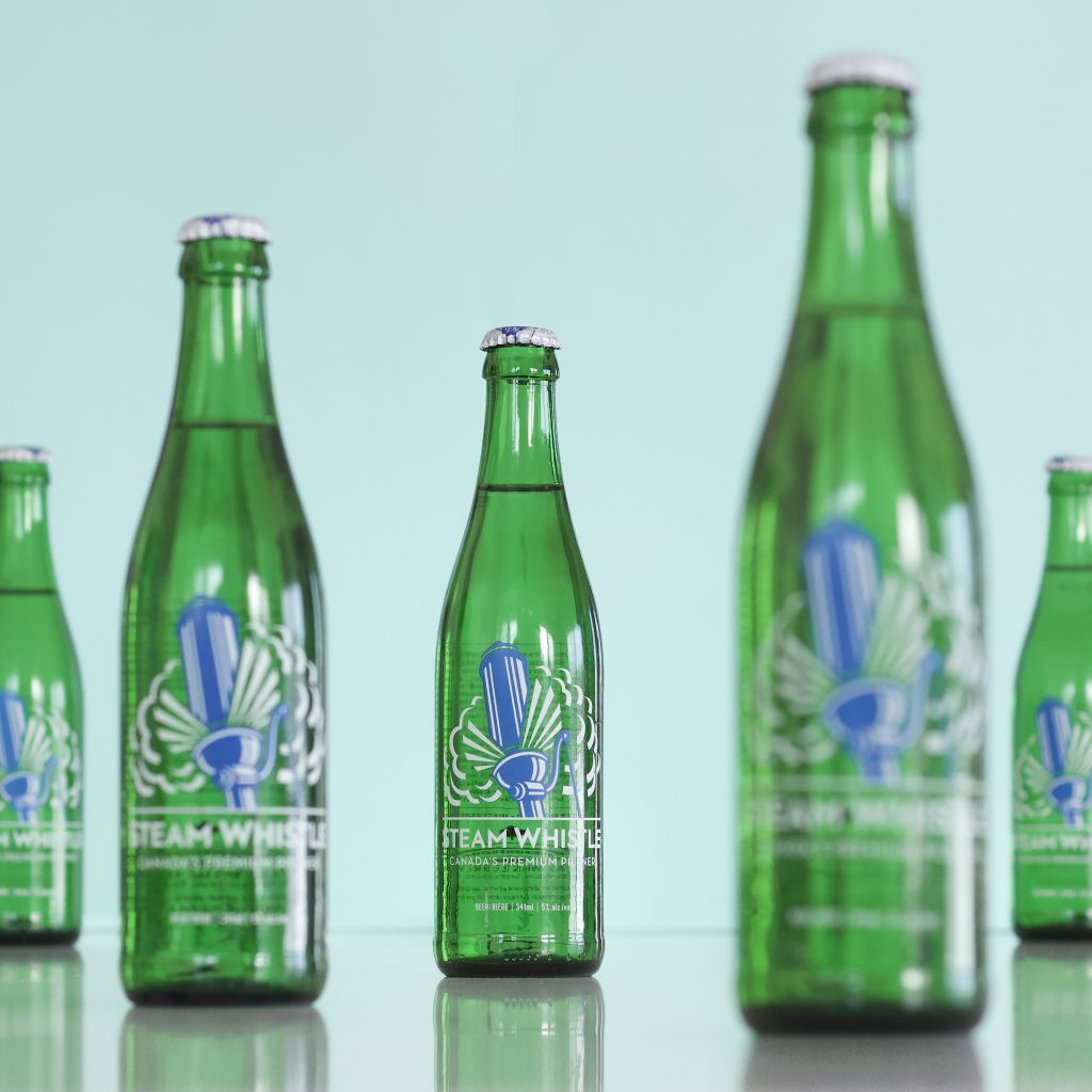 Steam Whistle's Iconic green bottles aren't only green in colour but are also environmentally friendly. They can be used up to 50 times