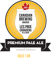 Gold at Canadian Brewing Awards
